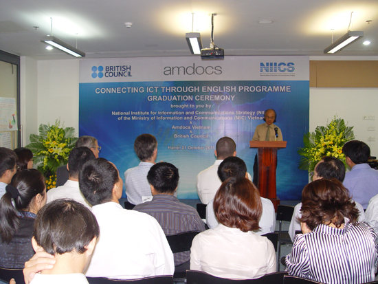 Graduation ceremony of ICT Business English Course organizes in Hanoi