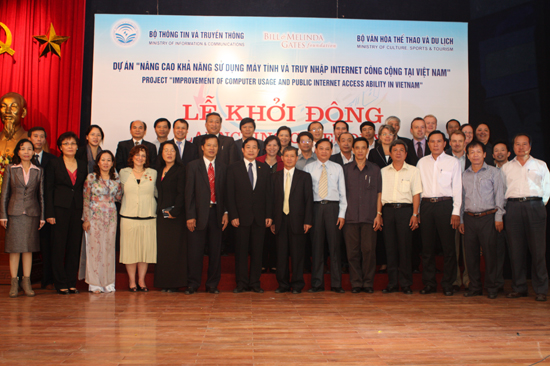 "Project ""Improvement of computer usage and public Internet access ability in Viet Nam"" launched in Hanoi"