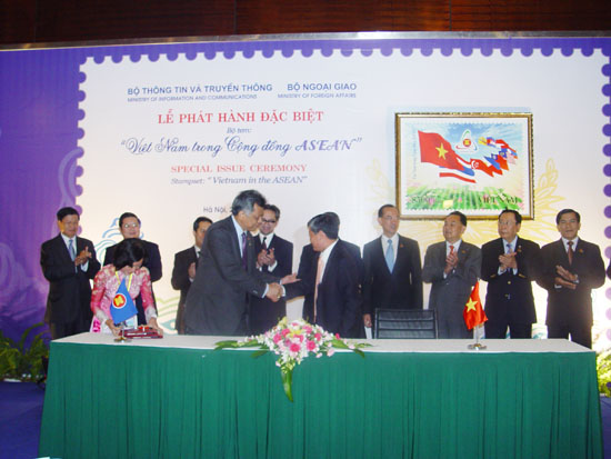 "Special Issuance Ceremony of Stamp Set ""Viet Nam in the ASEAN Community """
