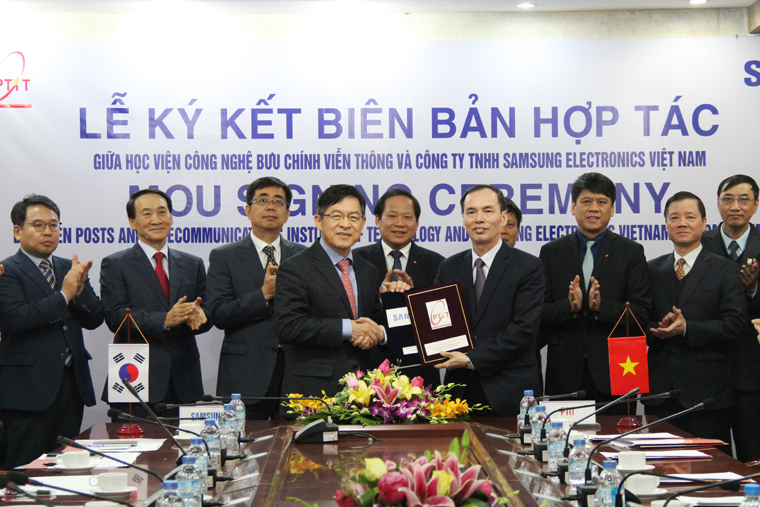 Institute of Post and Telecommunications Technology signed a cooperation agreement with Samsung Electronics