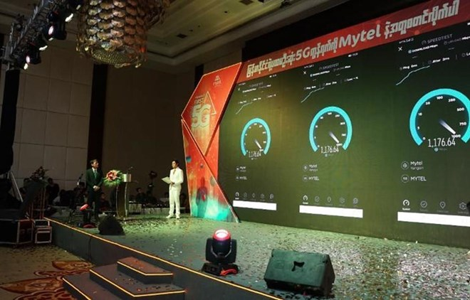 Telecom group launches 5G technology in Myanmar