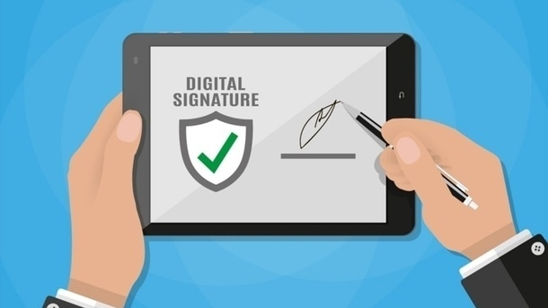 Documents on national e-doc platform are required to be digitally signed
